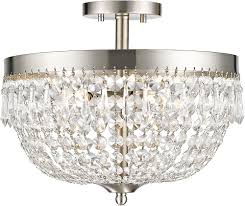z lite 431sf4 bn danza brushed nickel semi flush ceiling lighting