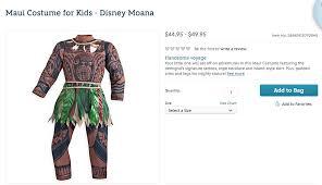 moana halloween costume disney under fire for u0027racism u0027 time