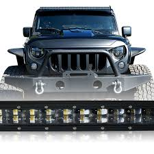 jeep light bar led light bar 288w 50 inches bracket wiring harness kit for