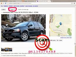 volvo email vehicle scams google wallet ebay motors amazon payments