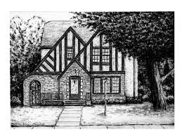 House Drawings by Kyle Frink Sketch Blog Charcoal House Drawing