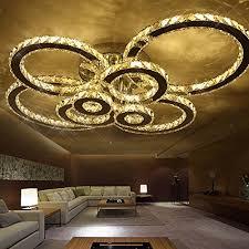 round 40w led ceiling light fixture l bedroom kitchen aiwen led crystal ceiling lighting flush mount chrome ceiling light