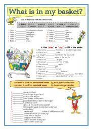 Count And Noncount Nouns Exercises Elementary 22 Best Countable And Uncountable Nouns Images On