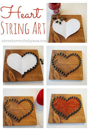 How To Do Upholstery How To Make Valentines Heart String Art Adventures Of A Diy Mom