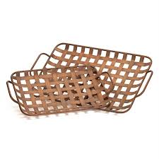 shop melrose international set of 2 basket weave rectangular