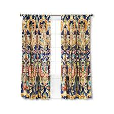 Multi Colored Curtains Drapes Mudhut Zaayan Geo Drape Curtain Panel Multi Colored 30