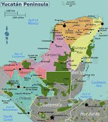 Map Of Yucatan Mexico by