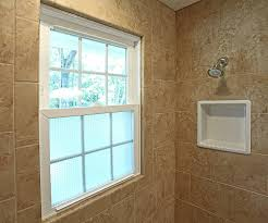 Waterproof Plaster For Bathroom Like The Tile Around The Window And The Frosted Glass Waterproof