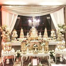 Baby Shower Table - gold princess baby shower baby shower ideas themes games