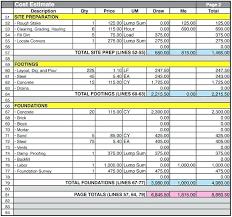Construction Estimate Excel Template construction estimate excel template estimate sheet building