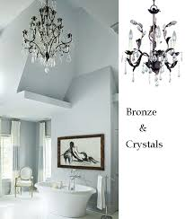 Crystal Chandelier For Bathroom 10 Bathroom Lighting Ideas With Crystal Chandeliers Lamps Plus
