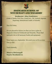 hogwarts acceptance letter harry potter wiki fandom powered by