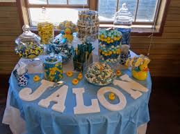 rubber duck baby shower candy table for casey and jason s rubber ducky themed baby shower