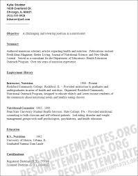 Sample Dietitian Resume by Resume For Fresh Graduate Nutritionist Sample Resume