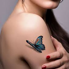 3d colorful butterfly stickers waterproof