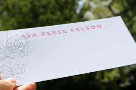 how to write an impression paper brighten my day september 2010 we printed thank you notes to match a little taste of the blind letterpress impression and the bold contemporary take on ava s name