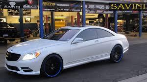 blue mercedes cl class savini wheels
