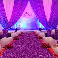 Purple Wedding Decorations Aliexpress Com Buy 10 M Roll 1 2m Wide Rose Red Pearlescent