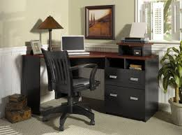 Work Desks For Office Transform The Black Corner Desk Into A Great Bonus Furnishing