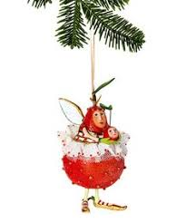 patience brewster krinkles pear with cherry ornament nib ornament