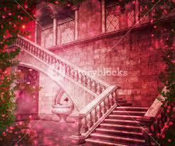 Castle Backdrop Pink Castle Interior Fantasy Backdrop Royalty Free Stock Image