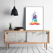 home decor prints yoga wall poster yoga posters yoga print home decor poster