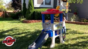 toy review step2 paw patrol lookout climber youtube