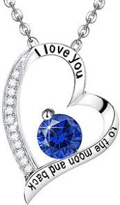 birthstone gift sterling silver sapphire heart pendant blue jewelry birthstone