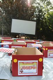 drive in movie cardboard boxes with car hop trays the party wagon