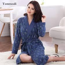 elderly woman clothes elderly woman nightwear cotton thickening sleeve robe