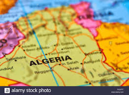 Algeria World Map Algeria Country In Africa On The World Map Stock Photo Royalty