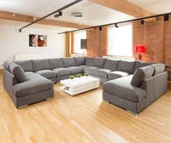furniture brick wall with grey u shaped sectional sofa also