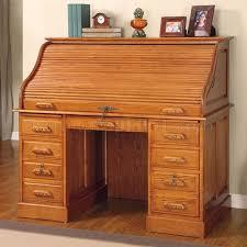 used solid oak desk for sale oak finish roll top stylish computer desk