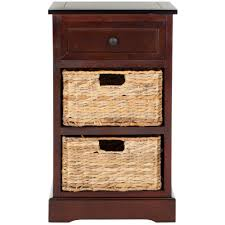 black side table with shelf safavieh carrie dark cherry storage side table amh5700d the home depot