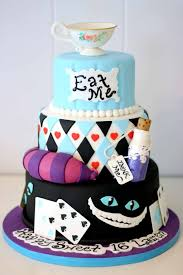 alice in wonderland custom cake for a sweet 16 party children u0027s