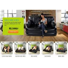 Telebrands Sofa Bed by Air Lounge 5 In 1 Sofa Cumbed In Pakistan Buyteleshop Com