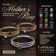 mothers rings 2 stones second marketplace earthstones s ring 2 gift box