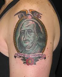 ben franklin sara purr tattoo