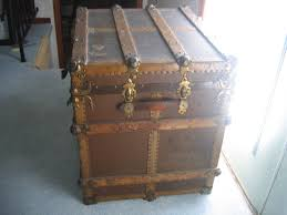 wooden trunk antique wooden chest travel storage trunk item 305 for sale
