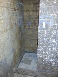 basement shower concrete slab drain what to use picture