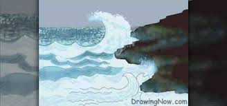 how to draw ocean waves drawing u0026 illustration wonderhowto