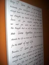 wedding vow backdrop customized wedding vows on canvas backdrop on etsy by