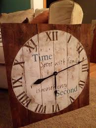 Clock Made Of Clocks Wood Pallet Clock Made By Me Homemade Wood Pallet Signs