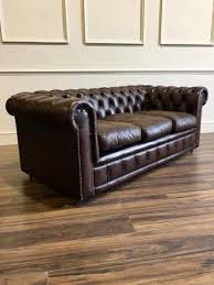 used chesterfield sofa leather chesterfield sofa in chocolate brown robinson of