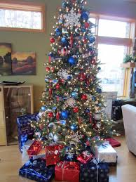 red white u0026 blue make the perfect christmas tree don u0027t you agree