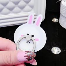 acrylic rabbit ring holder images Universal phone holder ring cute cartoon rabbit shape mobile stand jpg
