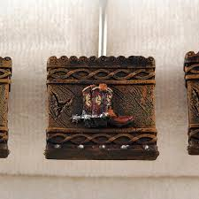 western boots shower curtain hooks cabin place