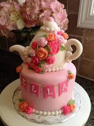 tea pot tea party cake with rice krispy treat tea pot