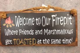 Firepit Signs Outdoors