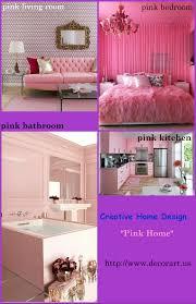 creative home design with pink color scheme decor crave